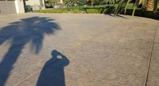 This is a picture of concrete driveway resurfacing in roseville, california.