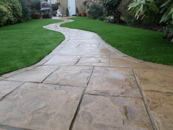 this is a picture of flagstone walkway in roseville, ca