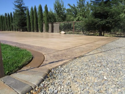 driveway done in Roseville, California