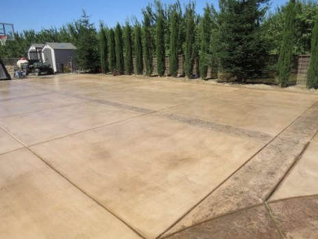 This is an image of stamped concrete driveway
