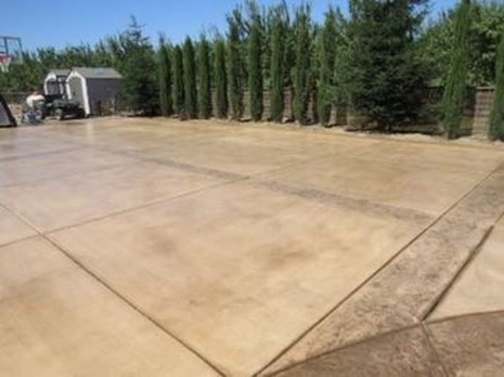 image of stamped concrete driveway contractors in roseville, ca