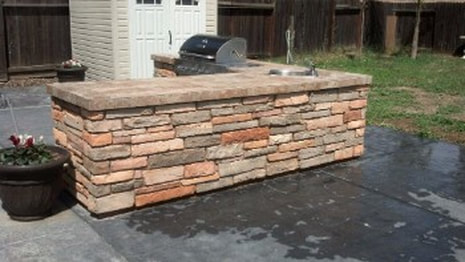 This is a picture of wall and firehouse brick masonry roseville, ca