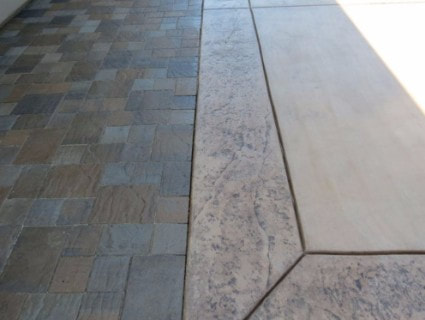 an image of a stained concrete driveway in Roseville