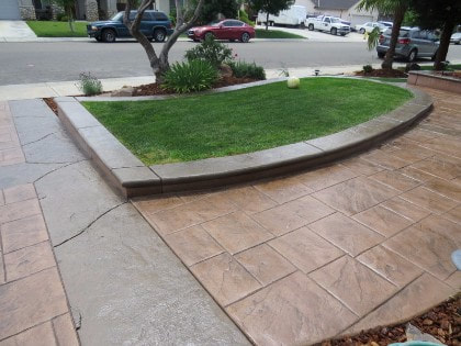 a picture of a concrete pavers in colfax, ca